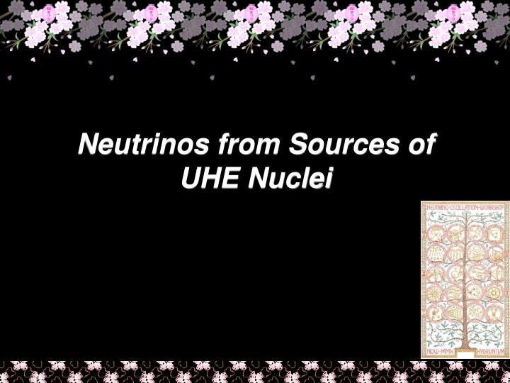 Neutrinos from Sources of UHE Nuclei