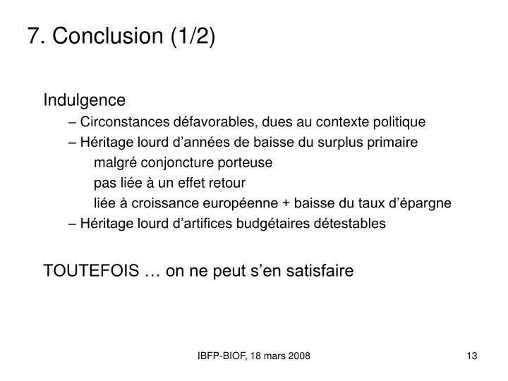 7. Conclusion (1/2)