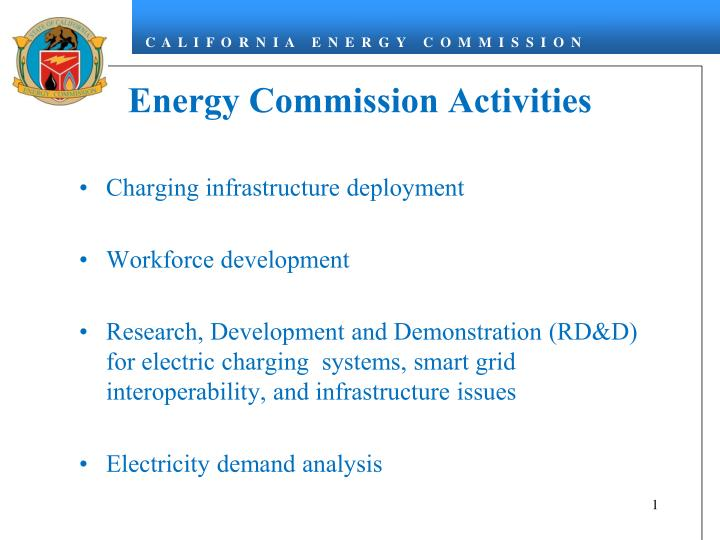 Energy commission activities