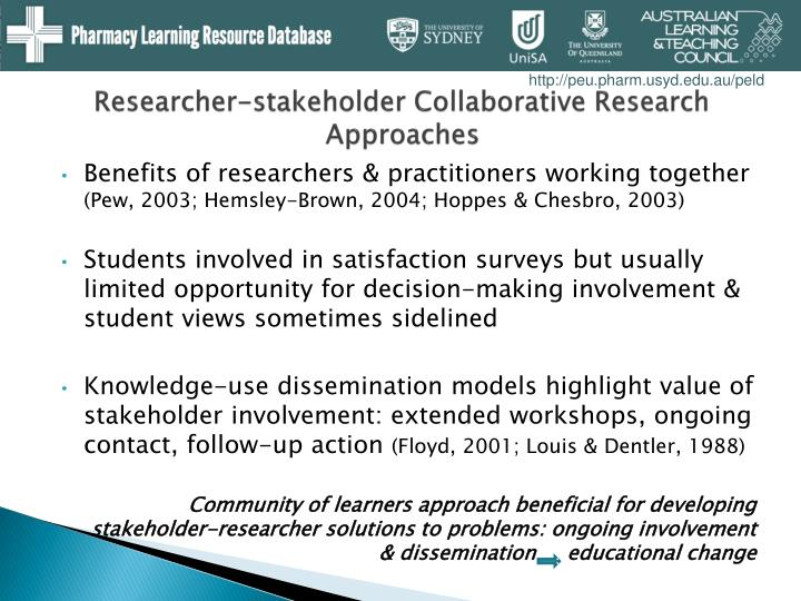 Researcher-stakeholder Collaborative Research Approaches