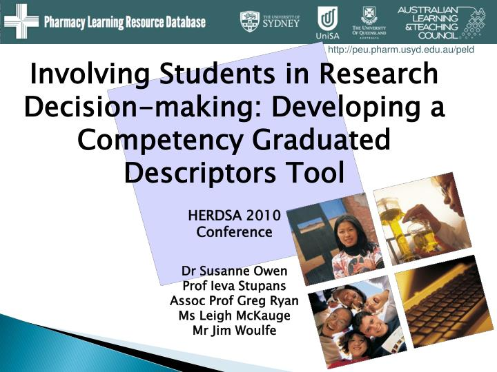 Involving Students in Research Decision-making: Developing a Competency Graduated Descriptors Tool