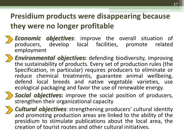 Presidium products were disappearing because they were no longer profitable