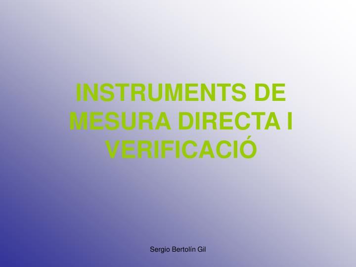 instruments de mesura directa i verificaci