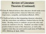 review of literature theorists continued
