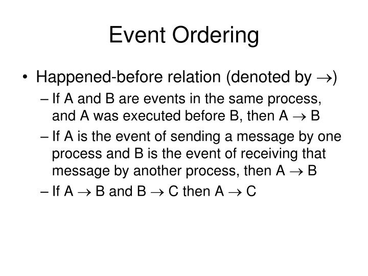 Event ordering1