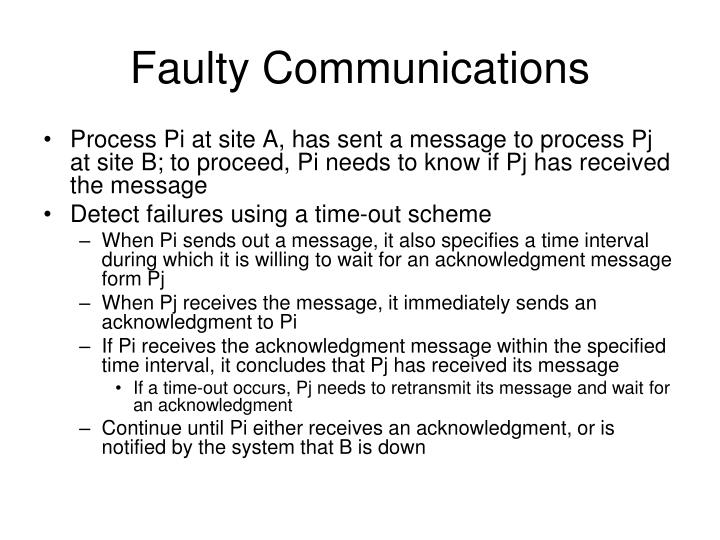 Faulty Communications