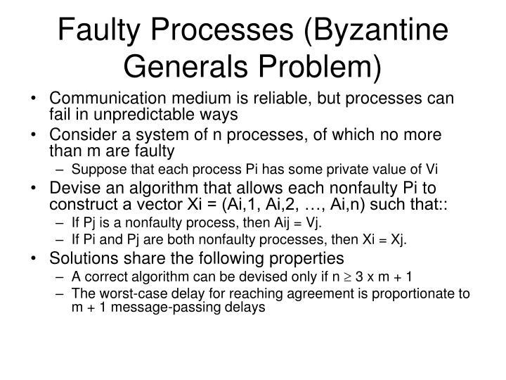 Faulty Processes (Byzantine Generals Problem)