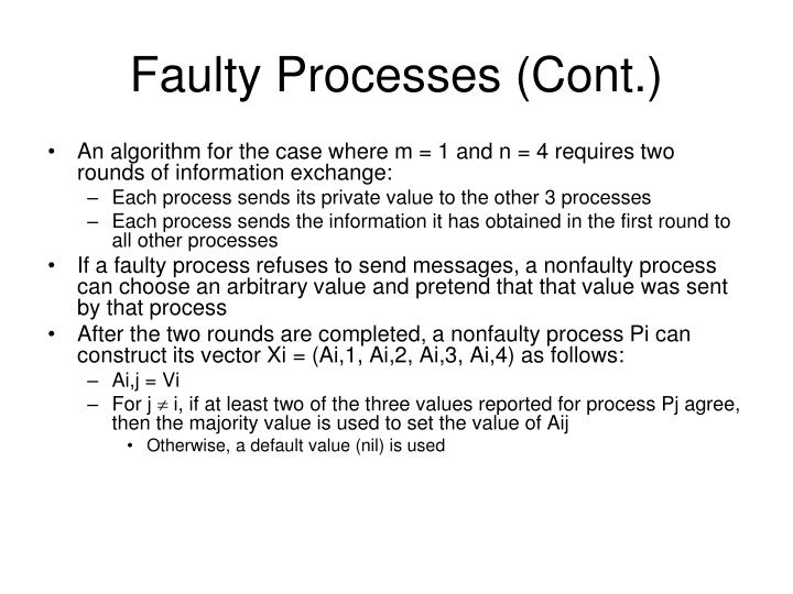 Faulty Processes (Cont.)