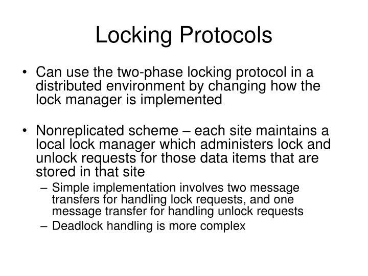 Locking Protocols
