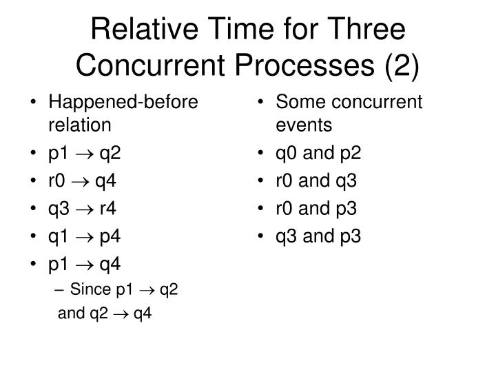 Relative Time for Three Concurrent Processes (2)