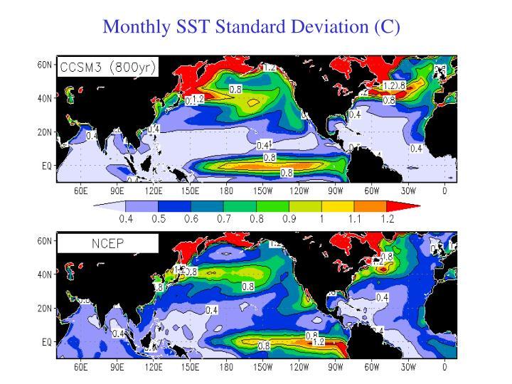 Monthly SST Standard Deviation (C)