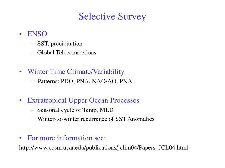Selective survey