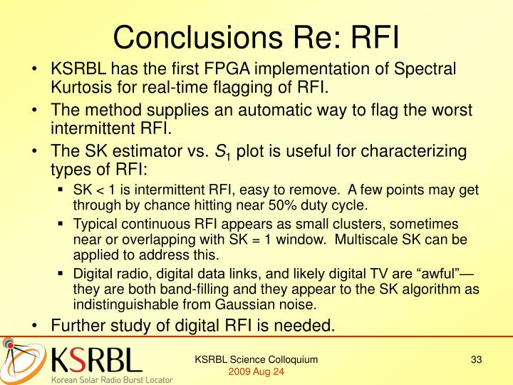 Conclusions Re: RFI