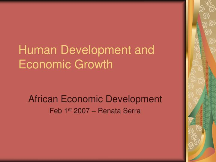 human development and economic growth n.