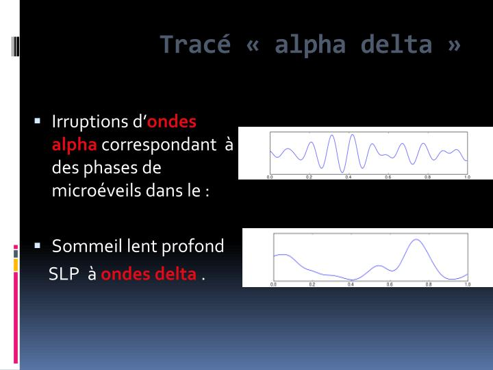 Tracé « alpha delta »