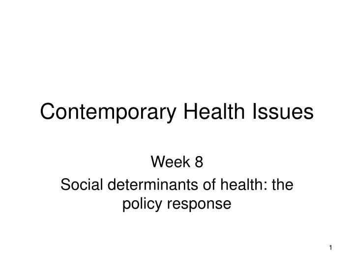 contemporary health issues n.