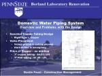 domestic water piping system overview and problems with the design