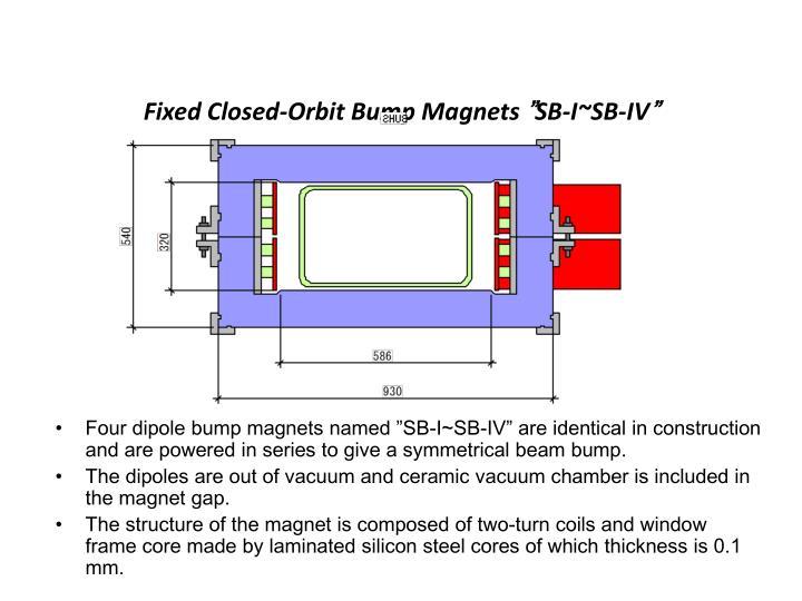 Fixed Closed-Orbit Bump Magnets
