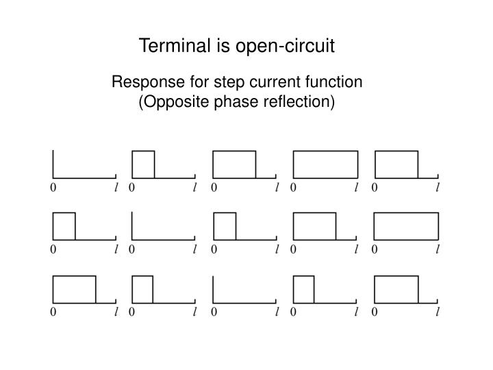 Terminal is open-circuit