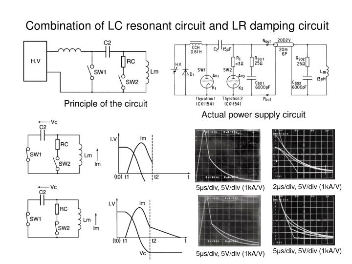 Combination of LC resonant circuit and LR damping circuit