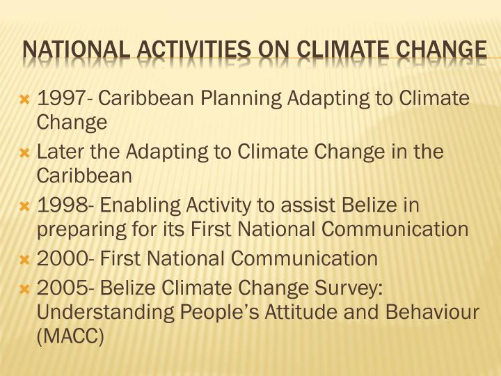 1997- Caribbean Planning Adapting to Climate Change