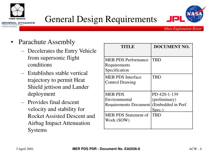 General Design Requirements