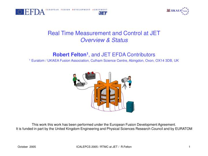 real time measurement and control at jet overview status n.