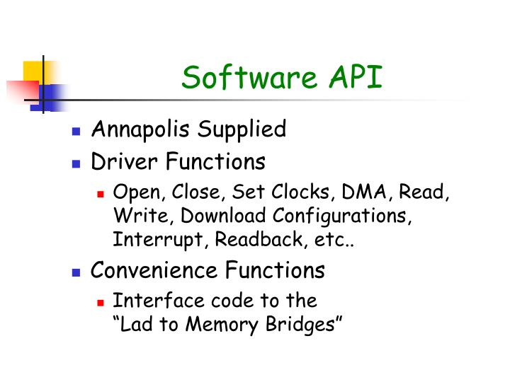 Software API