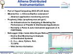 athena distributed instrumentation