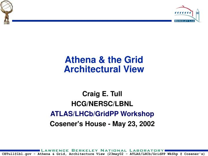 athena the grid architectural view n.