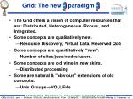 grid the new paradigm