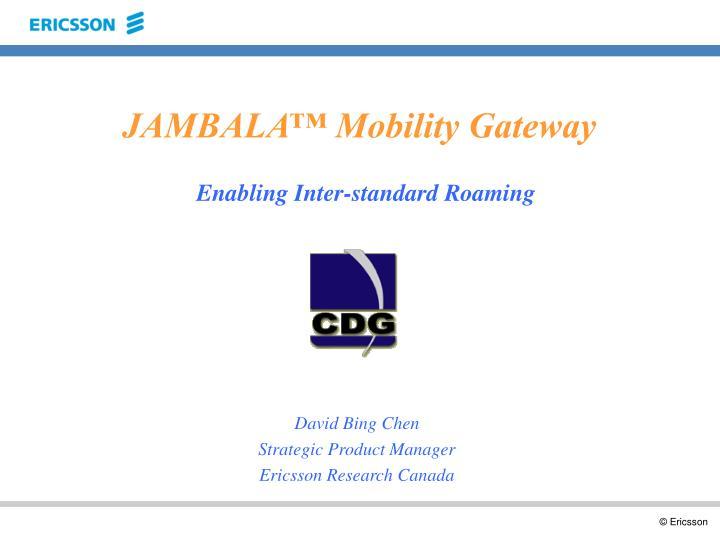 PPT - JAMBALA™ Mobility Gateway PowerPoint Presentation - ID
