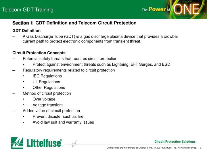 Telecom GDT Training