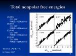 total nonpolar free energies