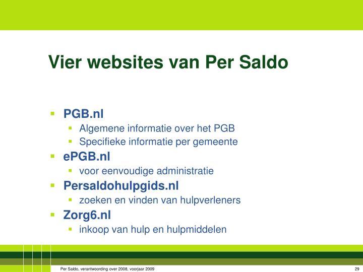Vier websites van Per Saldo