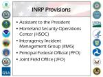 inrp provisions