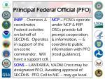 principal federal official pfo
