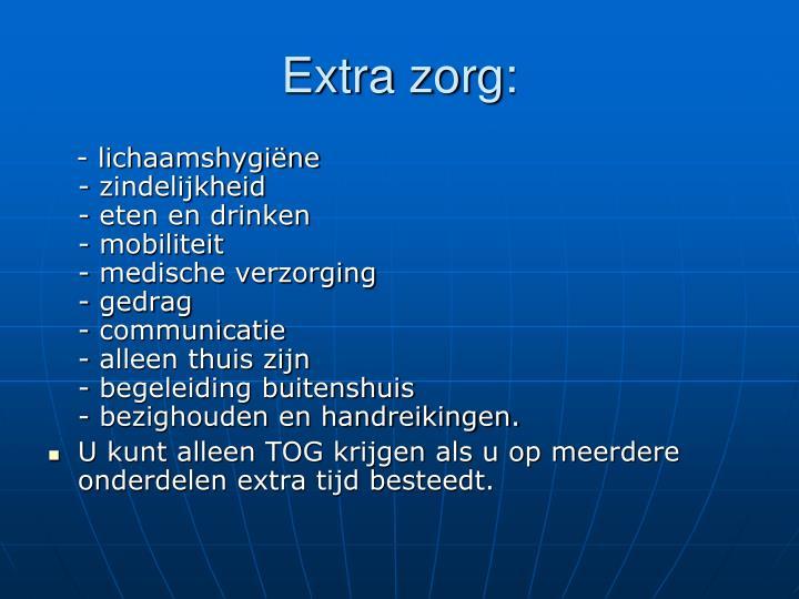 Extra zorg: