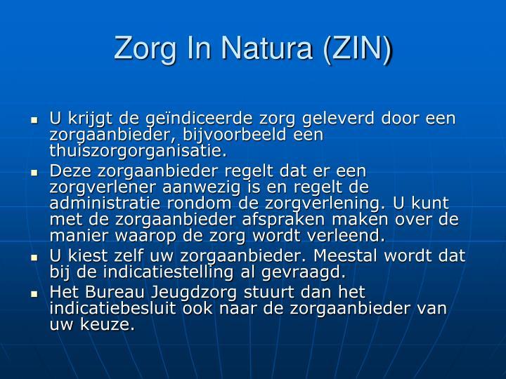 Zorg In Natura (ZIN)
