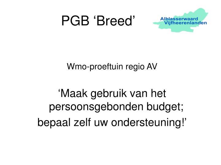 pgb breed n.