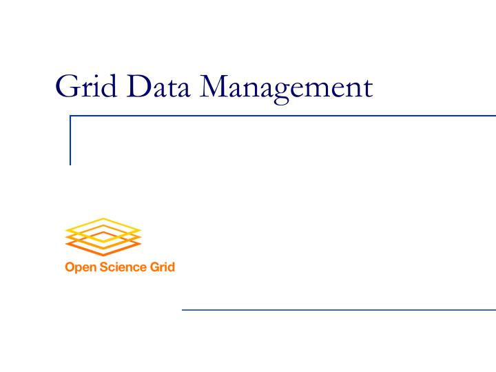 Grid data management