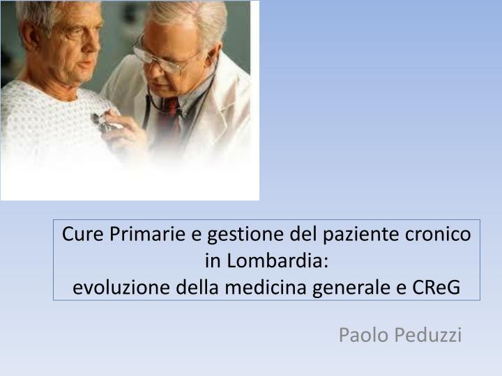 Cure Primarie e gestione del paziente cronico in Lombardia: