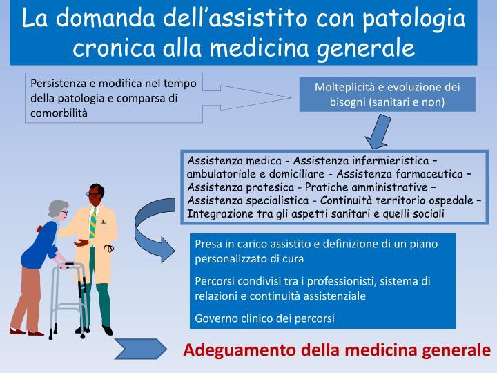 La domanda dell'assistito con patologia cronica alla medicina generale