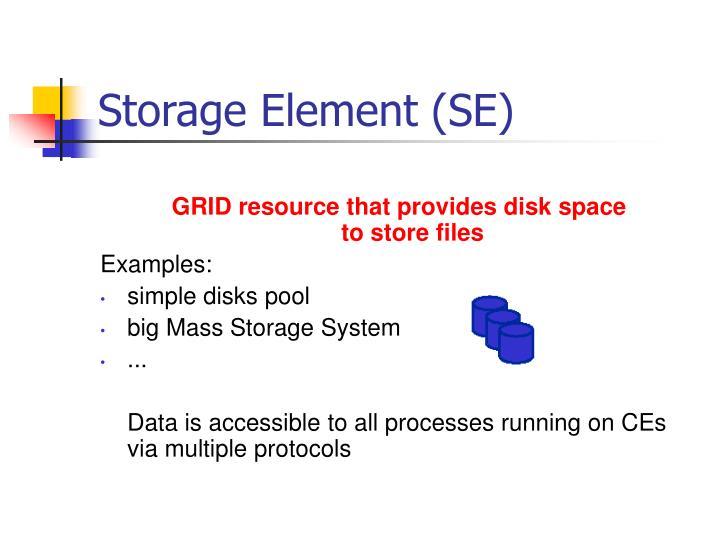 Storage Element (SE)