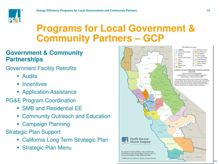 Programs for Local Government & Community Partners – GCP