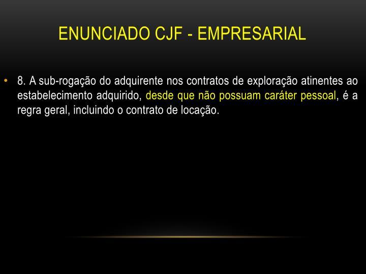 Enunciado CJF - Empresarial
