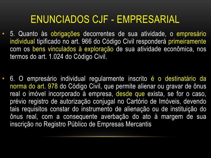 Enunciados CJF - Empresarial