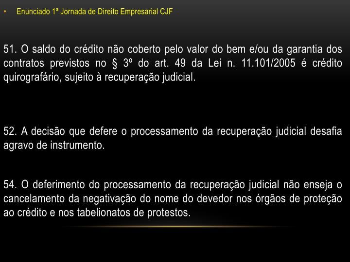 Enunciado 1ª Jornada de Direito Empresarial CJF
