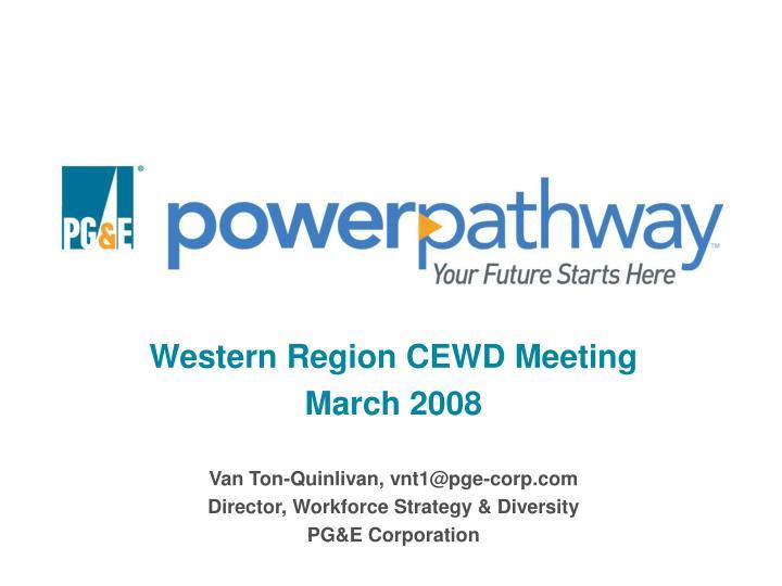 western region cewd meeting march 2008 n.