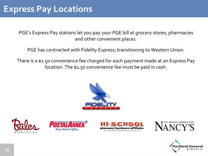 Express Pay Locations